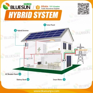 6KW hybrid solar system with batteries back up for home use
