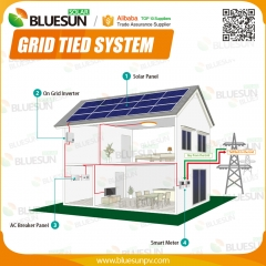 Long life solar power system home 5KW grid tied used for house
