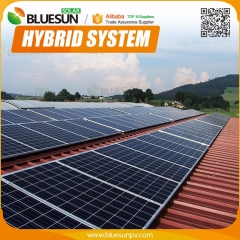 Hybrid 30KW pv solar system connect to grid and with battery backup for home and commercial use
