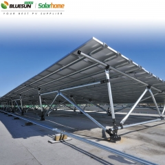 Flat Roof Ballasted Mounting System For Pv Panels