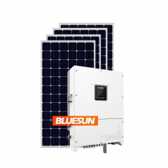 Bluesun 50kw Solar Power System 50kva 50 kw On Grid Solar Panel System With Three Phase Solar Inverter-Bluesun
