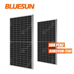 BLUESUN 395w half cell solar PV panel 9bb 395w 395watt 395wp 395 watt  PV module perc