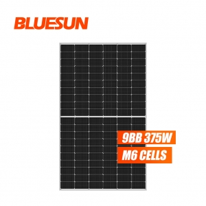 Bluesun 166mm 375w half cut mono solar panel